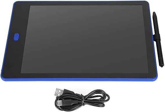 LCDライティングタブレット、青い両面デジタル落書きLED描画タブレット絵画調整可能な温度Eライターボードブライトパッドキッズギフト