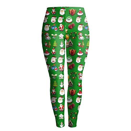 5aa412674644ca HXX Yoga pant New Design Women leggings 3D Printed Green Funny Santa Claus  leggins tights legging