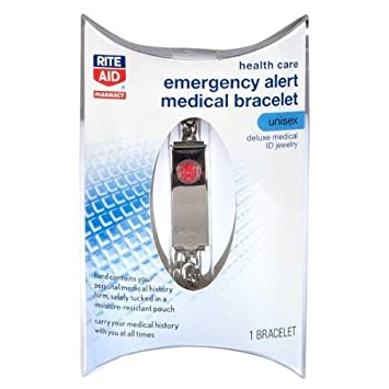 Amazoncom Rite Aid Emergency Medical Bracelet Health Personal Care