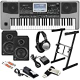 Korg Pa900 Arranger Keyboard STUDIO BUNDLE w/ Monitors, Stand & Pedal