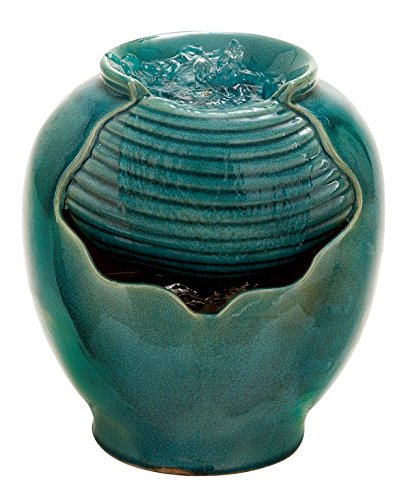 Deco 79 40812 Ceramic Decorative Water Indoor Fountain Statue, 10 by 12-Inch