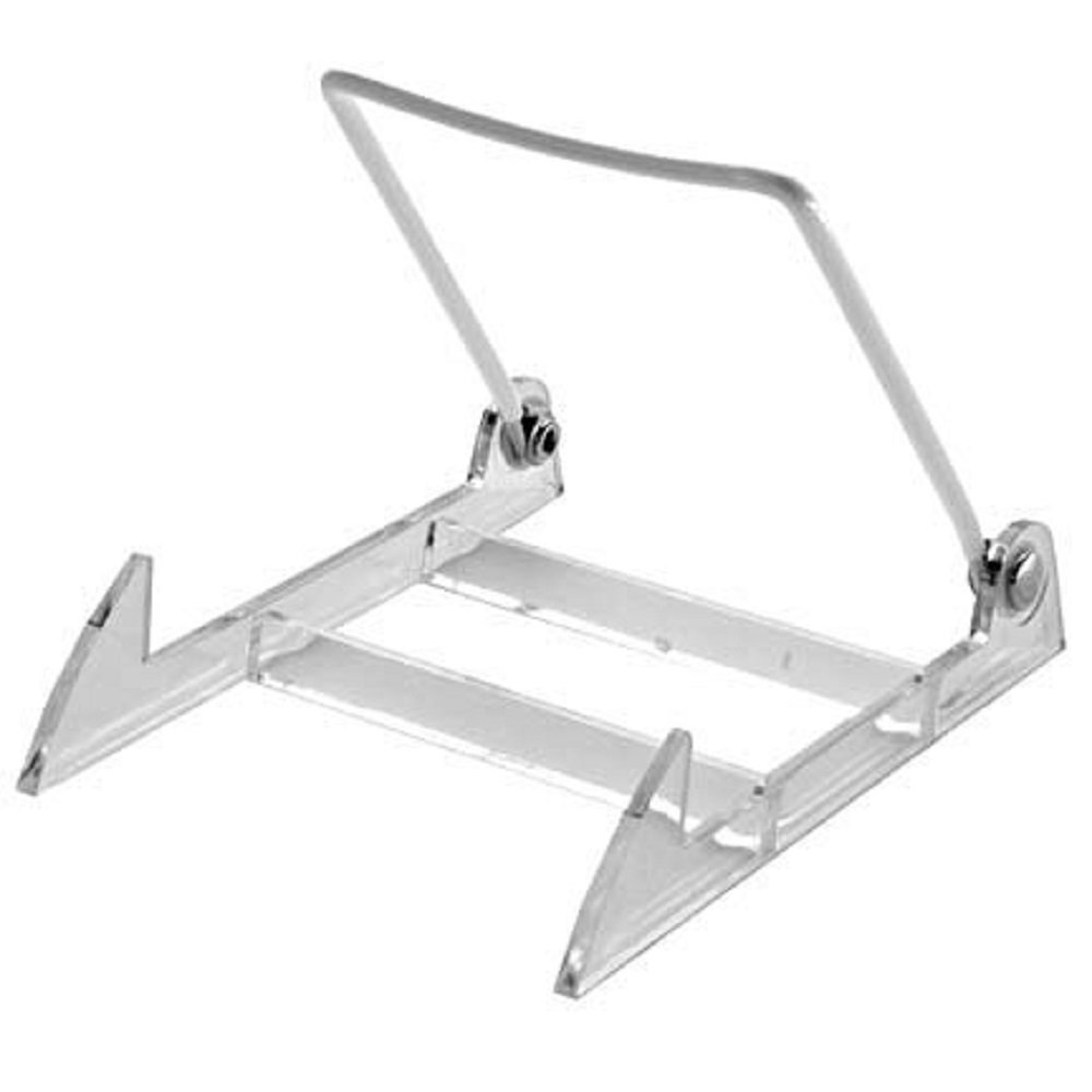 Gibson Holders 2PL Display Stand with Clear Base, Medium, White, 12-Pack by Gibson Holders