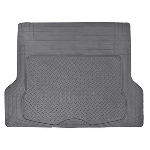 MotorTrend Heavy Duty Premium Rubber Cargo Mat Trimmable Trunk Liner for Trucks and Sedans ( 43.2