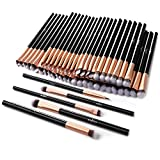 50pcs Eye Makeup Brush - Anjou 5pcs Eye Makeup Brushes X 10 Set - 2 Eye Blending Brush, 2 Eyeshadow Brush, 1 Eyeliner Brush Included in Each Set - 5 Essential Eye Brushes for Your Flawless Look