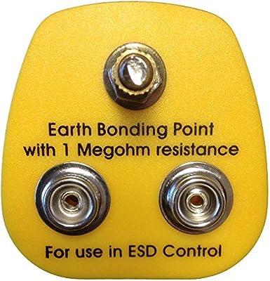 Anti Static ESD Grounding Bonding Plug 1 x 4 mm /& 1 x 10 Stud /& 1 x M5 UK Plug