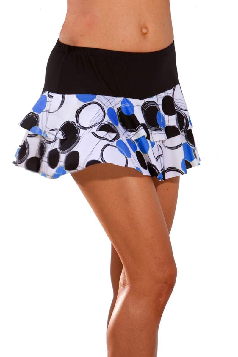 Ball Girl Flounce Tennis Skirt (Skirt Only) Black/Blue