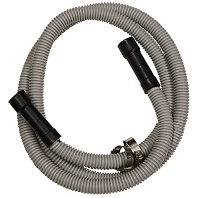 LASCO 16-1904 Dishwasher Drain Hose, Corrugated Flexible Poly Tubing, 5/8 ID x 7/8 OD, Universal Stepped Ends, 76-Inches Long