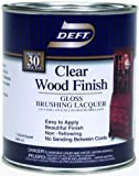 Deft Interior Clear Wood Finish Gloss Brushing Lacquer, Quart