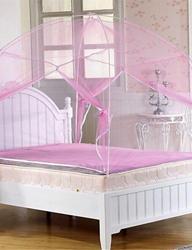 wwgy Utility Type Anti-mosquito Zipper Type Dome Bed Nets Curtain(70.87''L31.5''W) , pink