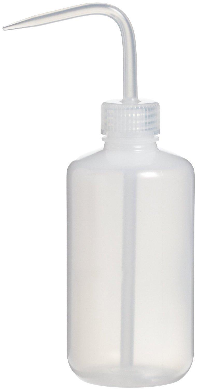 KOKEE LDPE Economy Wash Bottle Safety Wash Bottle Group, Narrow Mouth, 150ml, 250ml, 500ml ,1000ml 4 in 1, White