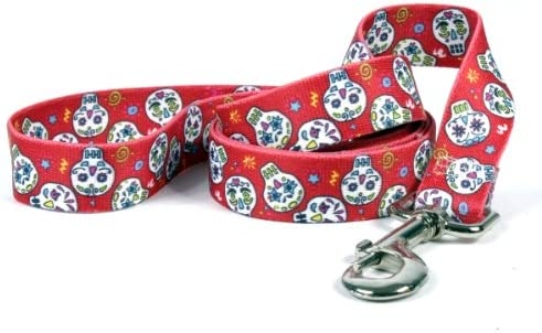 Skull Design Dog Puppy Harness w 4 foot Leash