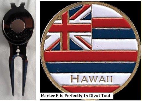 Hawaii Golf Ball Marker & Slick Clip Divot Tool   B00AB1EFQI