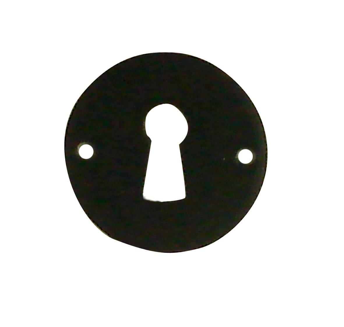 DT 2000 161481 2 Rosaces fer Noir serrure