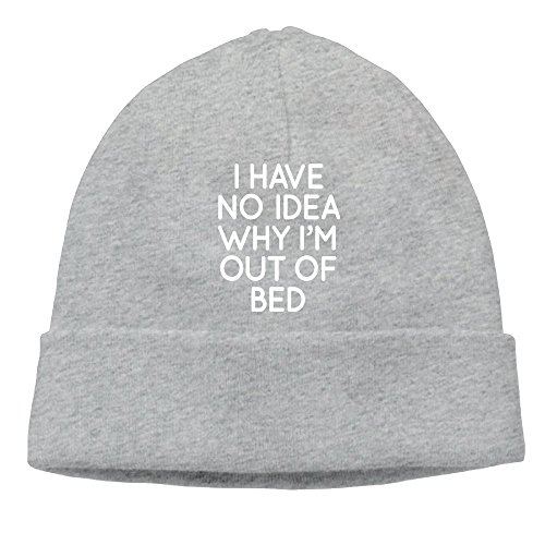Richard Lyons Men's Have No Idea Why I'm Out Of Bed Soft Travel Ash Beanies Skull (Ash Bunk Bed)