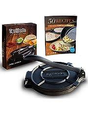 Tortillada - Hoogwaardige tortillapers van gietijzer met recepten ebook in het nederlands (25cm)