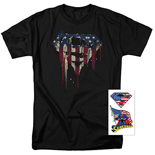 Popfunk Superman Logo S Shield American Flag Paint