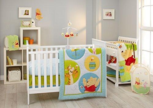 Disney Pooh's Play Day 4 Piece Bedding Set (Little Lamb Hot Pot)