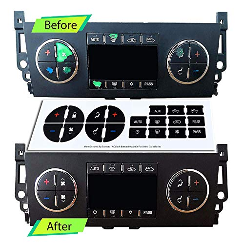 2 Pack AC Button Repair Kit Decal Stickers Dash Replacement for 07-13 Chevy GMC