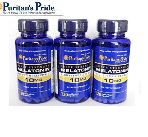 (Puritans Pride Melatonin 10 Mg Puritan's Pride Melatonin 10 Mg-120 Capsules (3 Pack))