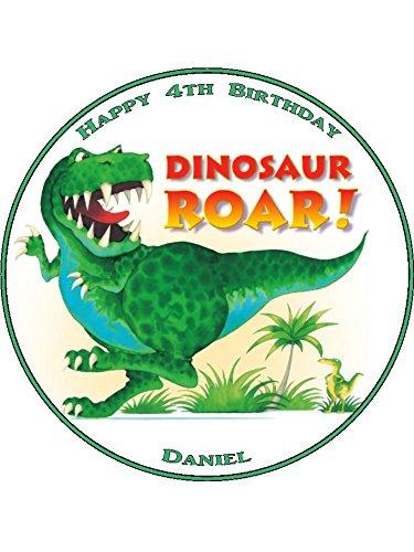 Dinosaurier Vorgeschnittene personalisiert Tortenaufleger 19,1cm, 7,5