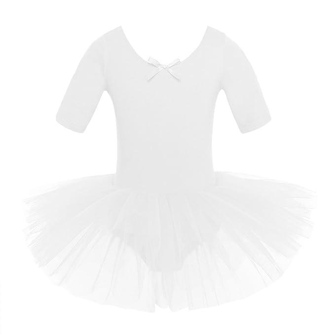 inlzdz Maillot de Ballet Niña Vestido Tutú de Patinaje Artistico ...