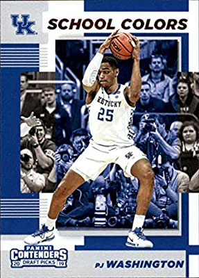 2019-20 Contenders Draft Picks School Colors #15 PJ Washington Jr. Kentucky Wildcats Official Panini NCAA Collegiate Basketball Card (any streak on scan is NOT on the card)