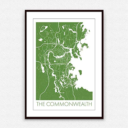 The Commonwealth - Video Game Map Poster