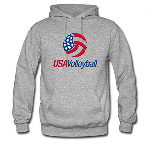Soothing Men's and Women's Unisex Custom USA Volleyball Logo Classic Hoodie S Grey