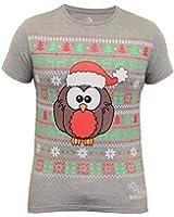 Mens Xmas T Shirt Soul Star Christmas Tree Rudolf Reindeer Robin Snowflake Print