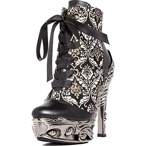 HADES RENA Lace Up High Heel Ankle Boot Black 10 for sale  Delivered anywhere in USA
