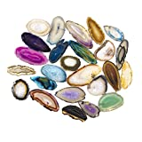Beverly Oaks Set of 25 Multi Colored Agate Slices Exclusive with Certificate of Authenticity