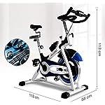 KEKEYANG-Ciclismo-Cyclette-Spin-Bike-Ciclo-stazionario-Allenamento-Attrezzature-WDisplay-LCD-Resistenza-Regolazione-Facile-da-spostare-Cyclette