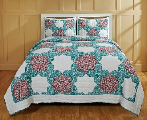 Be-you-tiful Home CC727Q Esha Jaipuri Printed Quilt Set, ...