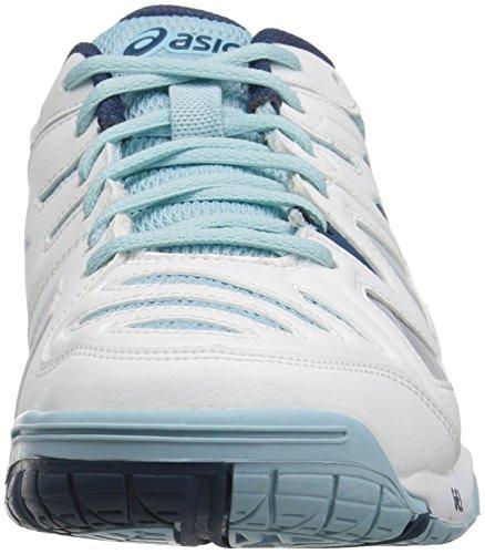 Asics Donne Gel Gioco 5 Scarpa Da Bianco / Azzurro Acciaio / Cristallo Blu