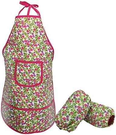 CUTICATE 子供は屋外の園芸おもちゃのためのエプロンのオーバースリーブの園芸工具のキットを防水します
