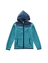 MoMoLand Boys Girls Long Sleeve Hooded Zip Fleece Jackets with Pockets