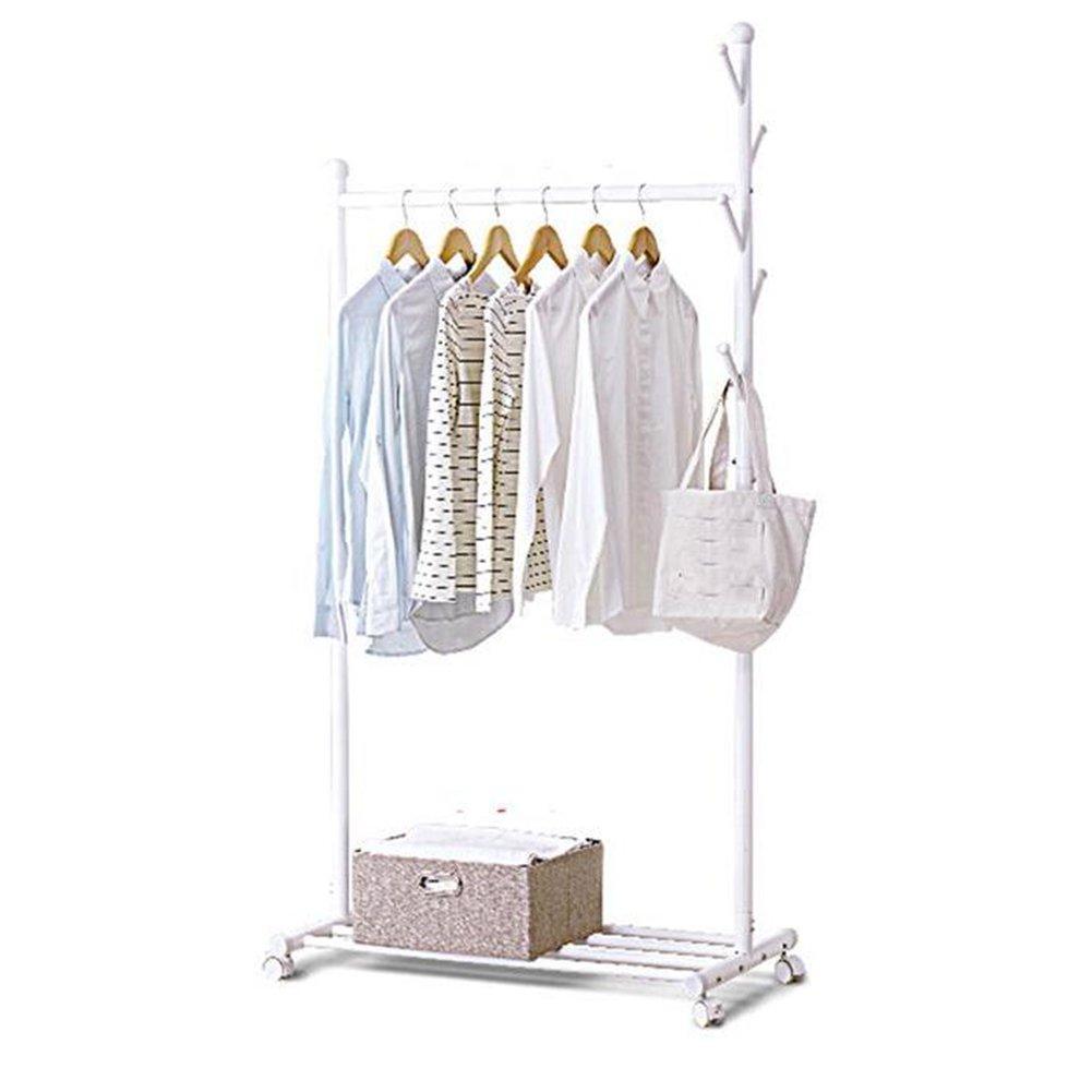 Floor Standing Hat And Coat Coat Rack Clothes Hat Tree Simple Hanger Coat Rack Floor-standing Clothes Shelf Single Pole Type Landing (multiple Colors, Multiple Models) ZHANGQIANG (Color : Gray)