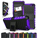 Fire Phone Case, CINEYO(TM) heavy Duty Rugged Dual Layer Case with kickstand (Amazon Fire Phone Case Black) (Black) (Purple)