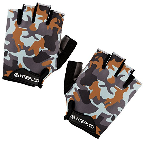 BOODUN Cycling Gloves with Shock-Absorbing Foam Pad Breathable B-001 Half Finger Bicycle Riding/Bike Gloves