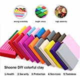 Maudre 24PCS DIY Colorful Clay,Soft Molding Craft Oven Baking Clay, Malleable Fimo Polymer Clay Plasticine Includes Tools,Accessories and Tutorials for Kids (24 Colors with tools and box)