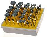 E-Bro 50pc Diamond Burr Set-Ceramics Tile Glass Lapidary for Rotary Tools