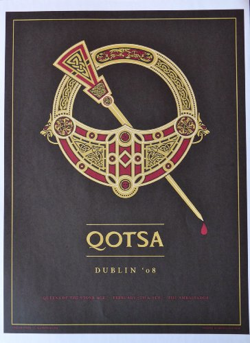 """Queens of The Stone Age - Live at The Ambassador - Concert Tour Poster - 10""""x14"""" - Dublin 2008"""
