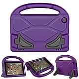 ThreeJ F i r e H D 8 case, Light Weight Shock Proof Portable Handle Soft Foam Case [Kickstand Kids Friendly] F i r e H D 8 Tablet(7th Gen / 6th Gen, 2017/2016 Realease) (Purple)