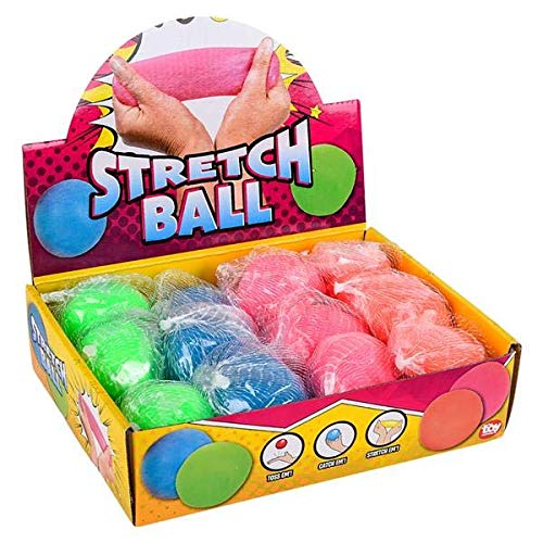 12 Pack Hi-Bounce Pull and Stretch Ball -