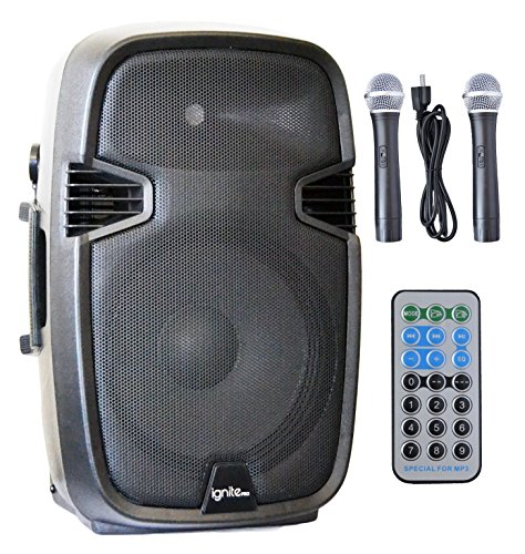 Ignite 15'' Pro Series Speaker DJ / PA System Rechargeable Battery / Bluetooth Connectivity 2000W Peak Power by Generic