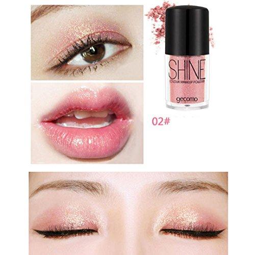 Binmer Eyeshadow, Multifunctional Shimmer High Powder Cosmet
