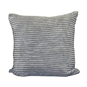 Gentil JUMBO Cord Scatter Cushions   2 Sizes Small U0026 Large   Sofa Chair Bed Cushion  Slate   Grey 1 X Filled Cushion 17x17 Inches