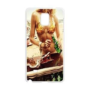 {Funny Series} Samsung Galaxy Note 4 Case Hot Summer, Antishock Case Okaycosama - White