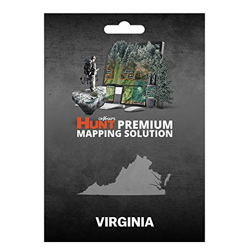 onXmaps HUNT Virginia: Digital Hunting Map For Garmin GPS + Premium Membership For Smartphone and Computer Color Coded Land Ownership 24k Topo Hunting Specific Data