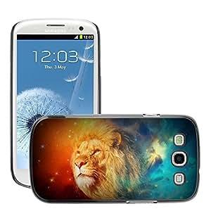 Super Stellar Slim PC Hard Case Cover Skin Armor Shell Protection // M00048492 abstract lion aero creative leon // Samsung Galaxy S3 i9300